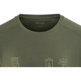 Bergans M's Happy Camper Tee Seaweed/Dark Steel Blue/Khaki Green